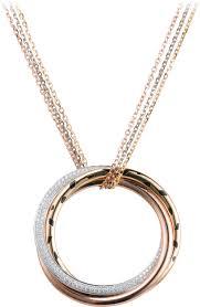cartier heart necklace images Trinity de cartier necklaces png