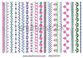 cross stitch pattern clothing elements folk stock vector 394155727