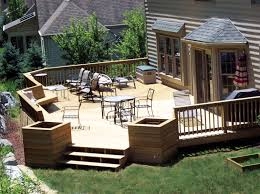 Small Backyard Idea by Exteriorssmall Backyard Deck Patio Designs Ideas With Curved