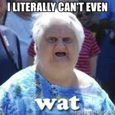 I Can T Even Meme - i literally can t even fat woman wat meme generator