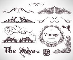 retro decorative ornaments frames and borders vector 06