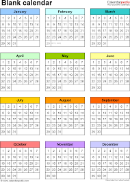 Blank Calendar Template Excel Blank Calendar 9 Free Printable Microsoft Excel Templates