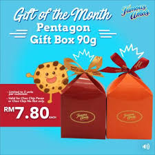 Gift Of The Month Amos Gift Of The Month Pentagon Gift Box 90g At Rm7 80 Each