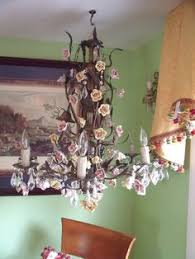 Italian Porcelain Chandelier Capodimonte Italian Porcelain Chandelier 6 Lights With Hand Made