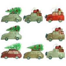martha stewart living painted car and truck ornament