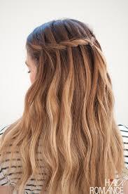 plait at back of head hairstyle waterfall mermaid braid tutorial for long hair hair romance