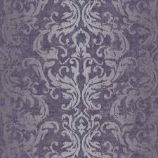 graham u0026 brown drama purple damask metallic wallpaper metallic