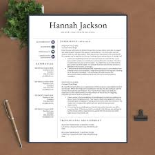 Linkedin Cv Creator Professional Resume Template The Hannah U2013 Landed Design Solutions
