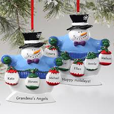 frosty snowman personalized ornaments