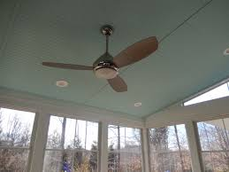 3 season porch designs blue ceiling with ceiling fan in an ezebreeze 3 season room jpg