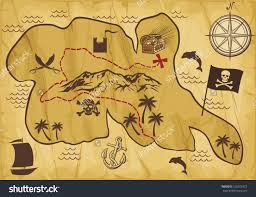 Old Map Background Treasure Map Clipart