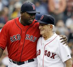 how much are big fans david ortize big papi with johnny pesky it s so clear how much