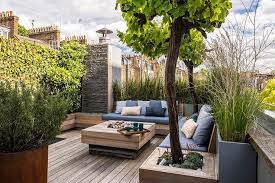 Deck Coffee Table - rooftop deck coffee table design ideas