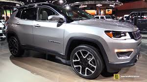 gray jeep 2017 2018 jeep compass limited exterior and interior walkaround