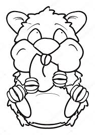 Coloriage Hamster manger arachide  Photographie tatty77tatty
