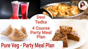 Example Of Main Dish Menu Full Party Meal Plan 4 Course Plan Drinks Starter Main Course