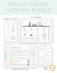 Wedding Invitation Bundles Items Similar To Boarding Pass Wedding Invitation Package With