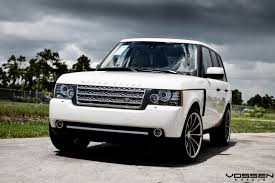 range rover rims eye catching white range rover boasting a set of classy rims