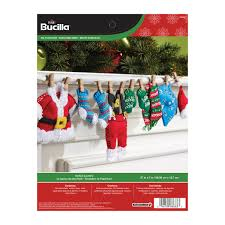bucilla seasonal felt home decor santa u0027s laundry garland