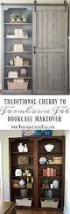 Antique White Bookcase With Doors by Best 25 Bookcase Makeover Ideas On Pinterest Cheap Furniture
