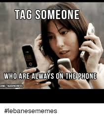 On The Phone Meme - tag someone who are always on the phone comitaggingboss