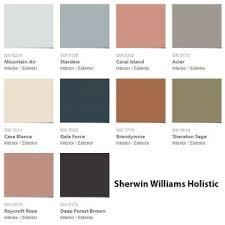 2017 color pallets sherwin williams holistic color palette 2017 interiors by color