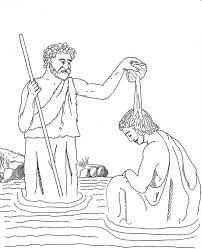 john pour water jesus head john baptist coloring