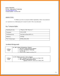 B Tech Fresher Resume 6 Job Resume Format For Fresher Ledger Paper