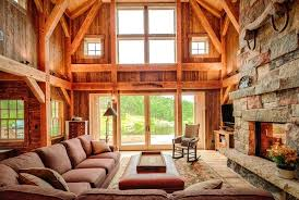 timber frame home interiors a frame house interior view in gallery timber frame home interior