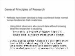 Define Single Blind Experiment Single Blind U2013 Participant Or Observer Is Ignorant Double Blind