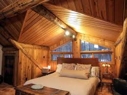 Log Home Bedrooms Wonderful Decorating A Log Home Bedroom Using King Size Wooden