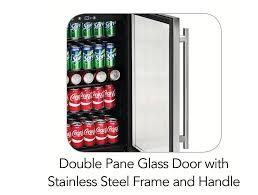stainless steel bar fridge glass door amazon com tramontina 126 can capacity stainless steel trim wine