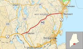 map of camden maine maine state route 90