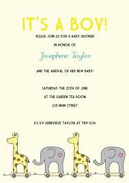 baby shower giraffe printable giraffe and elephant baby shower invitation kit