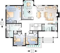single level floor plans single level bungalow living 21513dr architectural designs