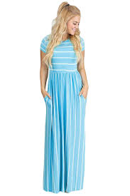light blue and white striped maxi dress stylish white striped light blue short sleeve maxi dress