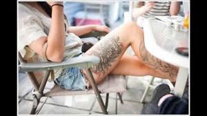thigh and leg tattoo designs for women youtube