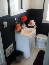 Orange Bathrooms Budget Bathroom Redo Small Black And White