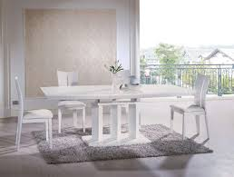 dining room elegant white rectangle dining table design with
