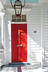 13 bold colors for your front door southern living charleston bright red front door