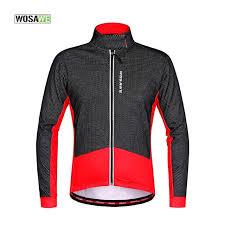 warm cycling jacket wosawe fleece thermal warm bicycle jacket long sleeve mtb road bike