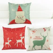 Sofa Cushion Cover Designs Vintage Christmas Pillow Cover Sofa Car Cushion Cover Linen Blend