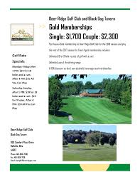 deer ridge golf club u2013 bellville oh