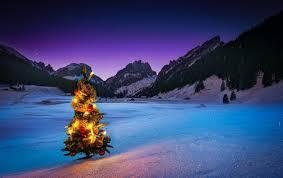 mountain christmas tree home decorating interior design bath