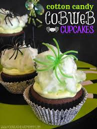 Halloween Decorations Cobwebs Cotton Candy Cobweb Cupcakes Young At Heart Mommy