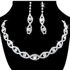 rhinestone necklace wedding images Jewelry set bridal wedding 8 shape crystal rhinestone necklace jpg
