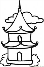 Little Buddhist Temple Coloring Page Free Religions Coloring Buddhist Coloring Pages