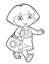dora coloring pages backpack diego boots swiper print dora