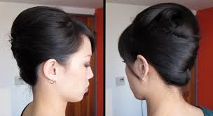 french roll updo hairstyle french twist half updo for short hair
