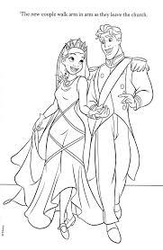 wedding coloring books tiana and naveen coloring pages colouring pages pinterest